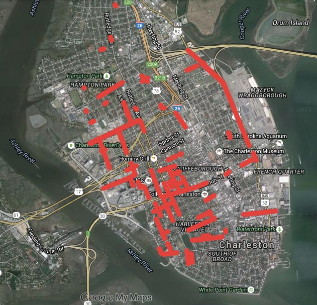 Affordable Apartments In Charleston Sc: Crowdsourced Map Of Charleston Street Flooding