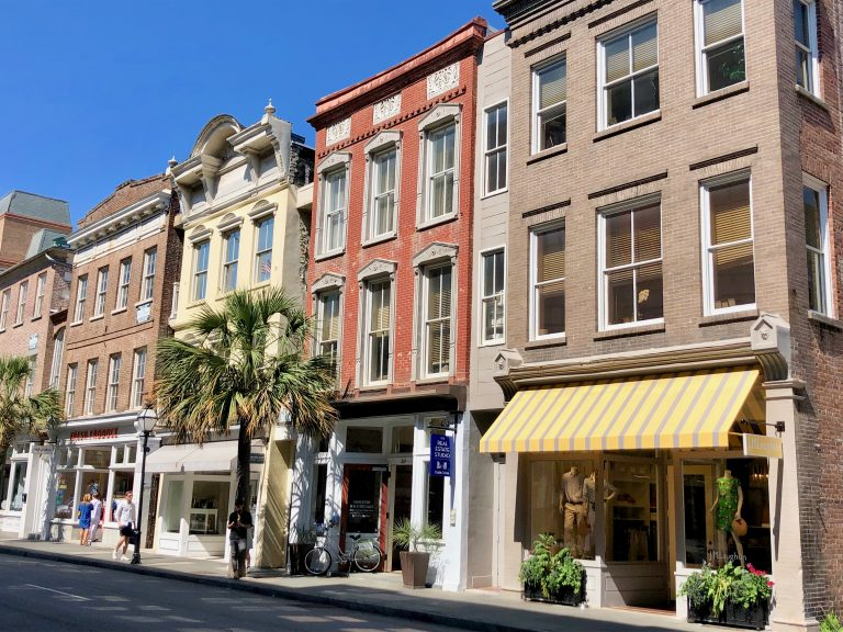 Buildings on King Street in Charleston, SC