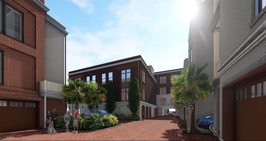 Rendering of proposed development Flats at 655 Easy Bay in Charleston, SC