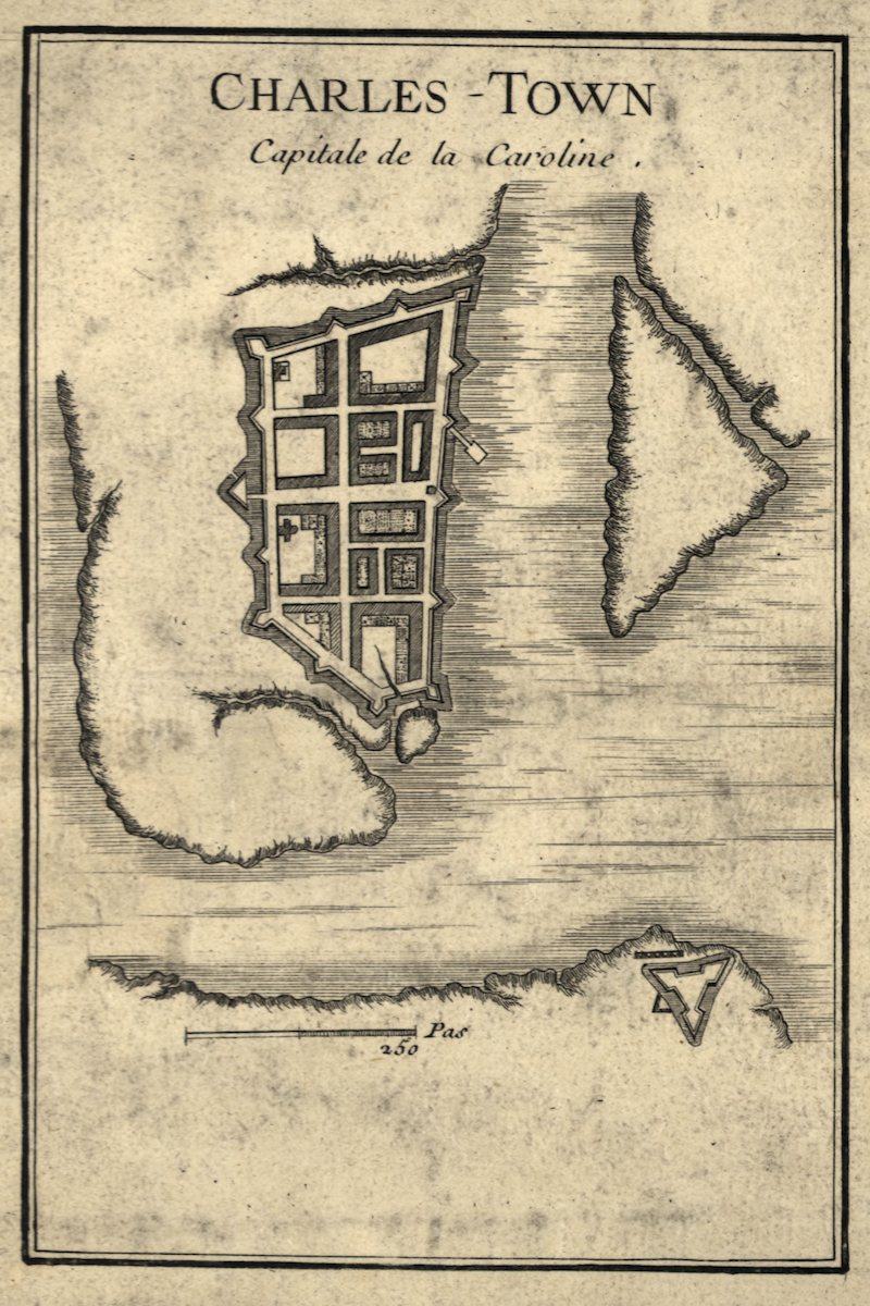 A map of early Charles Town