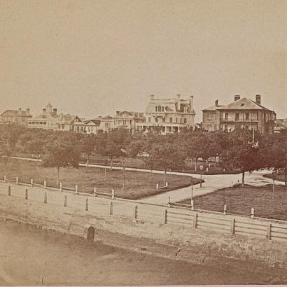 A 1860 photograph of White Point Garden