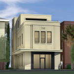 Rendering of proposed building at 725 King Street by Neil Stevenson Architects