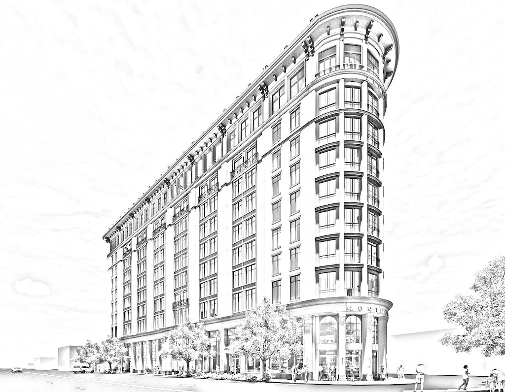 A sketch of the proposed Montford Building