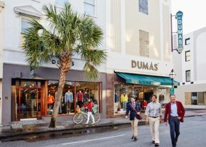 The storefront of M. Dumas & Sons on King Street in Charleston