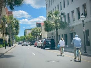 Bicyclists on King Street