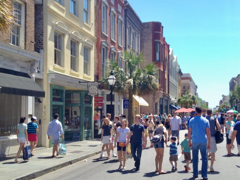 People enjoying Second Sunday on King Street