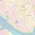 A map of flood zones in Charleston, SC