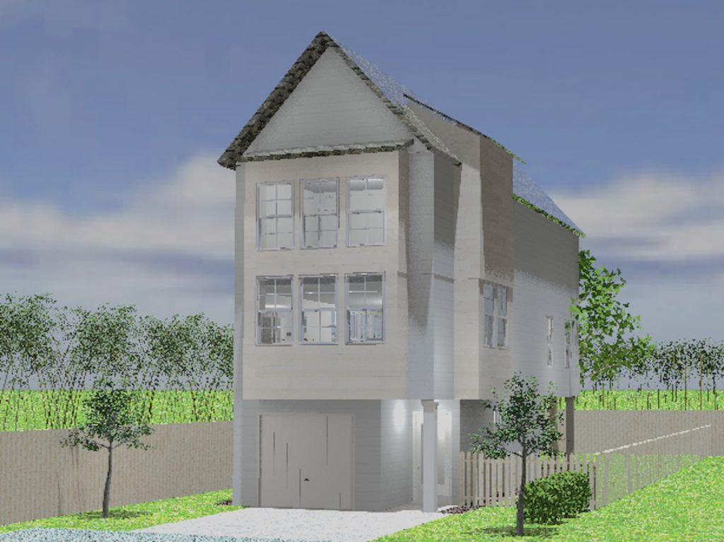 Proposed exterior rendering of House Two in Pilgrim Square
